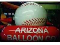 helium balloon - baseball balloon. Logos and artwork available on any baseball balloon.