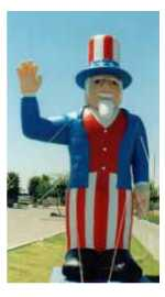 Uncle Sam cold-air advertising inflatables